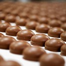 Rows of chocolate biscuits