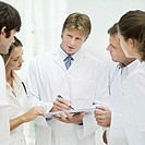 group of doctors having a meeting