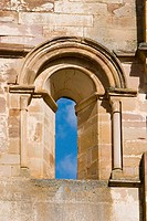 Window on apse of church, ruins of Santa Maria de Moreruela Cistercian monastery (12th century). Zamora province, Castilla-León, Spain