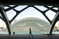 City of Arts and Sciences by S. Calatrava. Valencia, Spain