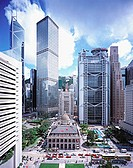 Hong Kong, Central Business District in the day.