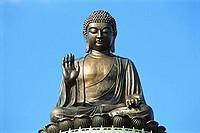 China, Hong Kong, Buddha Statue at Po Lin Monastery