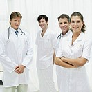 portrait of a group of medical personnel standing