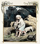 Schiller, Friedrich, 10 11 1759 - 9 5 1805, German author/writer, works, ´The Bell´, 1799, advancing thunderstorm, coloured engraving by Ludwig Richte...