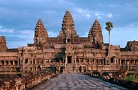 ANGKOR, CAMBODIA<BR>Temple of Angkor Wat, Cambodia (UNESCO world heritage site).