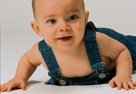 PORTRAIT OF AN INFANT LAUGHING<BR>Model.<BR>Eight-month-old boy.