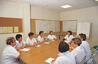 NURSES MEETING<BR>Photo essay from hospital.<BR>René Pleven Hospital in Dinan, in the Britanny region of France.