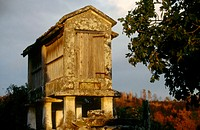 'Hórreo' (typical granary in northwest Spain). Galicia, Spain