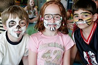 Club HAL, children, painted faces. MS Noordam. Holland America Line. Puerto Rico, Atlantic Ocean