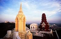 High angle view of a palace, Phra Nakhon Khiri Palace, Phetchaburi, Thailand