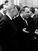 Leonid Ilyich Brezhnev (1906-1982), President of the USSR, during visit to Czechoslovakia, 1969
