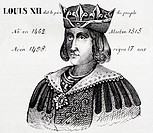 Louis XII, king of France from 1498 to 1515. History of France, by  J.Henry (Paris, 1842)