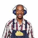 portrait of a man wearing headphones
