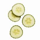 Close-up of sliced cucumber