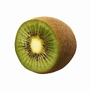 Close-up of half a kiwi