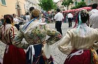 Calabrian Folk Dancing Festival, Tropea. Calabria, Italy