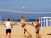 Beach volleyball. Playa de las Arenas, Valencia, Spain