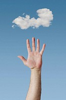 Hand and cloud