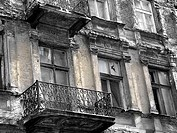 Facade of an old apartment building