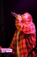 Icelandic singer Mugison, performing at Nasa in Reykjavik, during 2004 Iceland Airwaves Music Festival