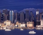 Mid-town skyline, Manhattan, New York, USA