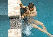 Couple in pool together