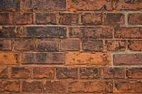 Front view of a bricked wall