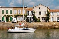 Saint-Martin. Ile de Ré. Charente-Maritime. Poitou Charentes. France.
