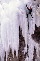 Treacherous Ice Climbing Activity, Ouray, Colorado
