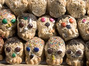 Amaranto skulls, mexican tradition