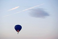 Hot air balloon floating in sky