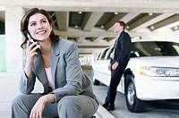 Businesswomen on Cell Phone