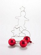 Christmas cookie cutter and ornaments