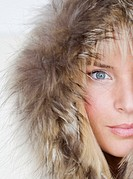 Woman Wearing Fur Hood