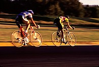 A bicycle race in Portland, OR.
