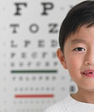 Young Boy and Eye Chart