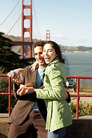 Couple by the Golden Gate Bridge