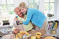 Older Couple Having Breakfast