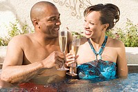 Couple Enjoying a Glass of Champagne