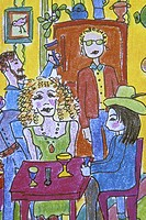 Party Time 2003 Jane Butler (b.1949 American)  Colored pencil Private Collection