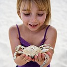 Girl with Crab Exoskeleton