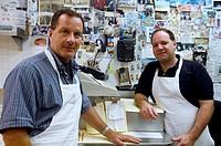 Seafood market proprietors, portrait