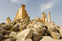 Ruins of the great Zeus temple, Roman city of Jerash