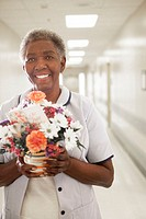 Nurse with Fresh Flower Delivery