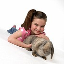 Girl with Bunny Rabbit