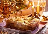 Salmon and Riesling Christmas pie
