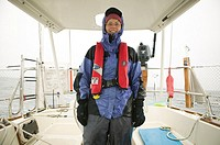 Sailor in foul weather gear..  MR-0503 PR-0554