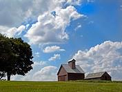 Farmhouse in , Peoria. Illinois. USA.