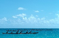 Outrigger Canoe race, Hawaii