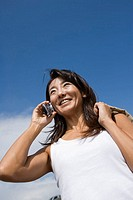 Mature Adult Woman Talking on the Mobile Phone